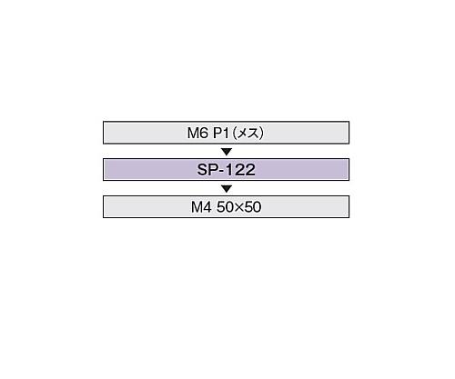M6P1アクセサリー直結スペーサー SP-122
