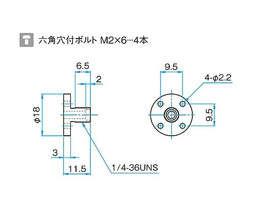 SMA型光ファイバー用レセプタクル   FOP-ADP-SMA