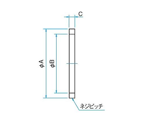 ネジリング・樹脂リング 外径φA:φ26.25mm 内径φB:φ22mm  RR-25.4-5