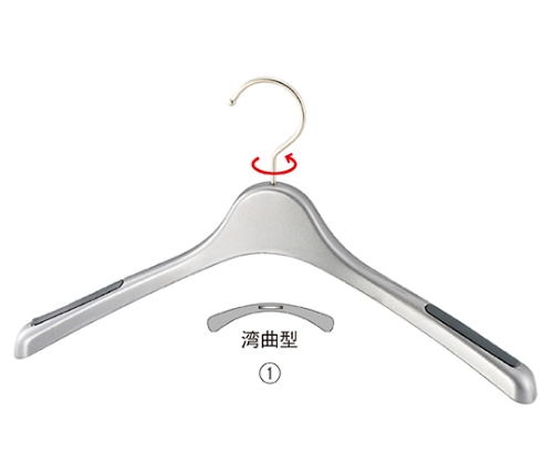 [取扱停止]プラスチック製ハンガー シルバー 婦人トップス用