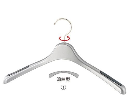 [取扱停止]プラスチック製ハンガー シルバー 婦人トップス用 51-177-5-1