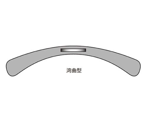 [取扱停止]プラスチック製ハンガー 透明 ボトム用 51-177-8-2
