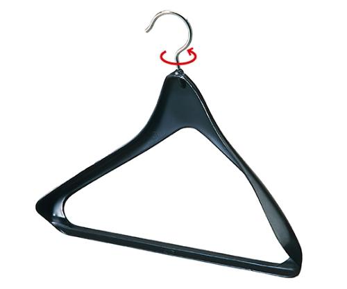 [取扱停止]プラスチック製シャツ・ジャケット用ハンガー 黒 W38cm 51-177-10-1
