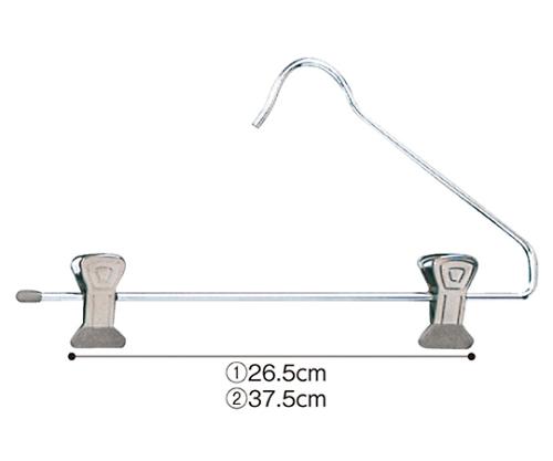 [取扱停止]スチール製ボトムハンガー W39cm 入数100本 61-194-12-4