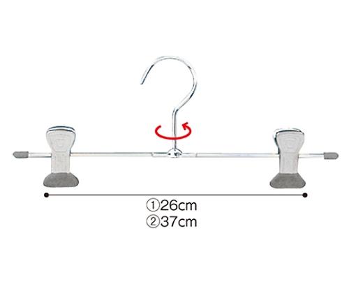 [取扱停止]スチール製ボトムハンガー T字型 W39cm 入数10本 51-179-11-2