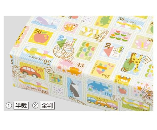 プチスタンプ 包装紙 全判 61-261-5-2