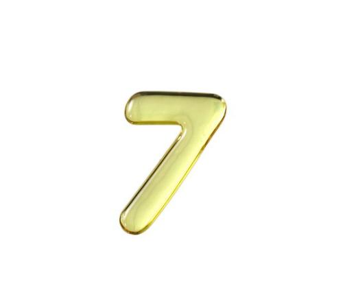 ゴールドメタル文字 7 35mm×1mm