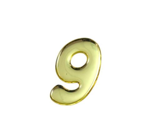 ゴールドメタル文字 9 35mm×1mm
