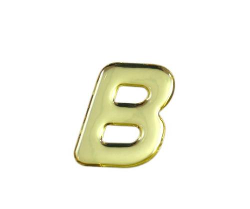 ゴールドメタル文字 B 35mm×1mm
