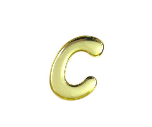 ゴールドメタル文字 C 35mm×1mm
