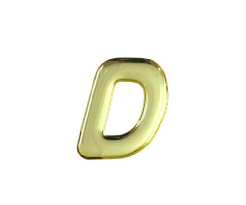 ゴールドメタル文字 D 35mm×1mm