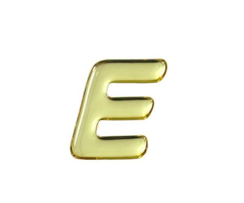 ゴールドメタル文字 E 35mm×1mm