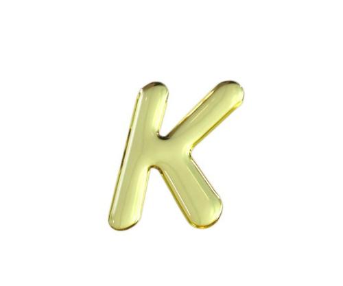 ゴールドメタル文字 K 35mm×1mm