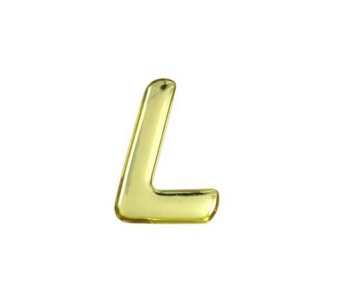 ゴールドメタル文字 L 35mm×1mm