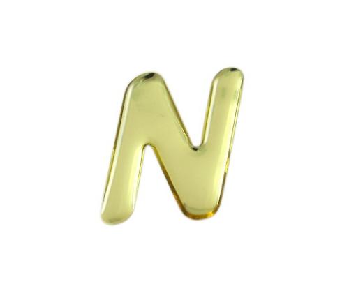 ゴールドメタル文字 N 35mm×1mm