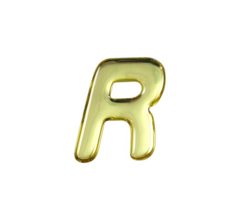 ゴールドメタル文字 R 35mm×1mm
