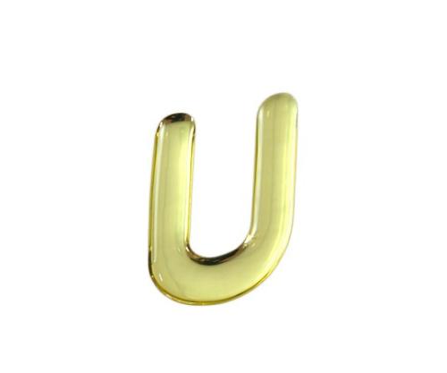 ゴールドメタル文字 U 35mm×1mm