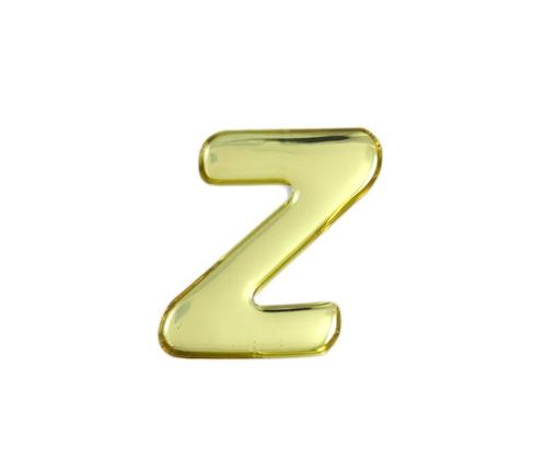 ゴールドメタル文字 Z 35mm×1mm