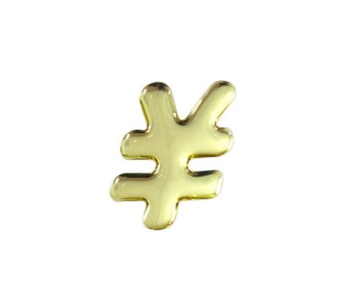 ゴールドメタル文字 \ 35mm×1mm
