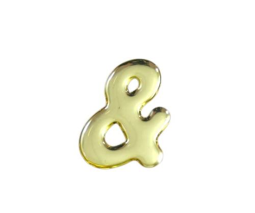 ゴールドメタル文字 & 35mm×1mm