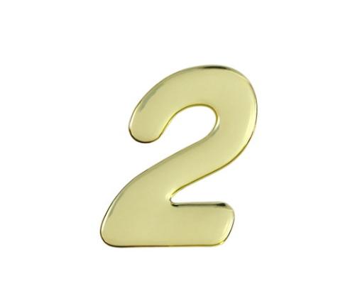 ゴールドメタル文字 2 60mm×1mm