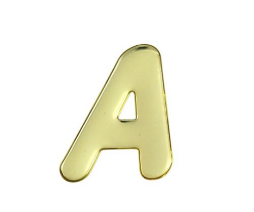 ゴールドメタル文字 A 60mm×1mm