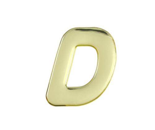 ゴールドメタル文字 D 60mm×1mm