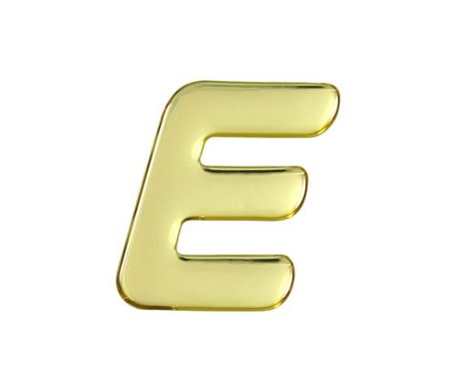ゴールドメタル文字 E 60mm×1mm