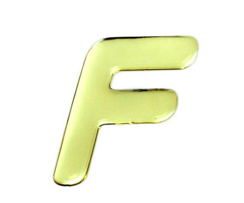 ゴールドメタル文字 F 60mm×1mm