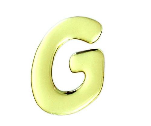 ゴールドメタル文字 G 60mm×1mm