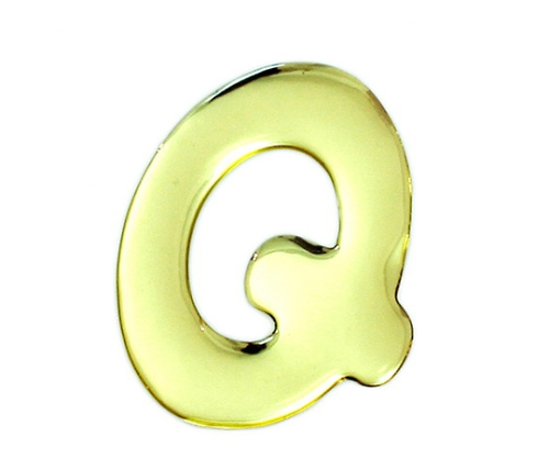 ゴールドメタル文字 Q 60mm×1mm