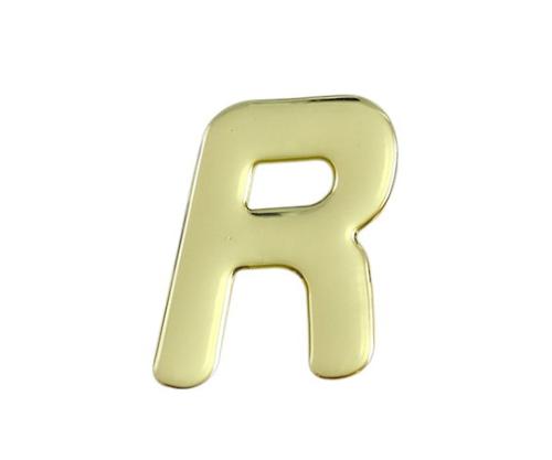 ゴールドメタル文字 R 60mm×1mm