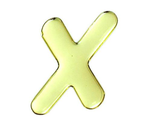 ゴールドメタル文字 X 60mm×1mm