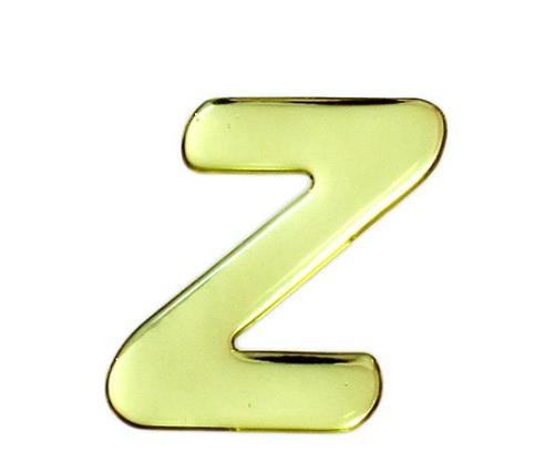 ゴールドメタル文字 Z 60mm×1mm