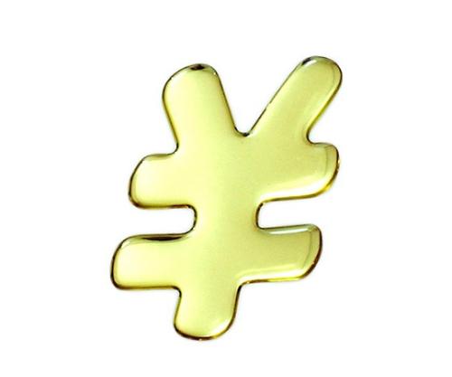 ゴールドメタル文字 \ 60mm×1mm