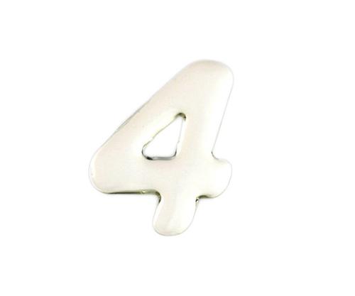シルバーメタル文字 4 35mm×1mm