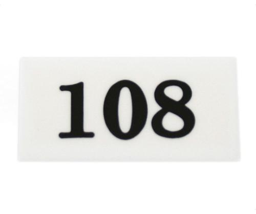 番号プレート 108