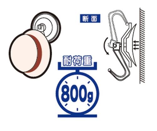 アイテック 吸盤フック 小(1P2ヶ入)