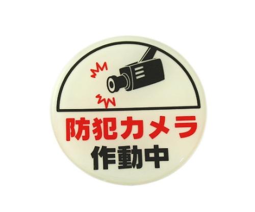 LU666-2 プレート防犯カメラ作動中