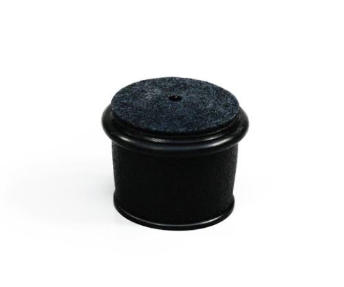 フェルト付脚キャップバラ 32~35ミリ 黒