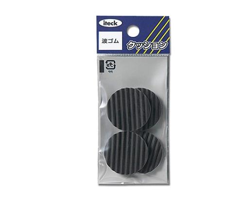 波ゴム テープ付き 3×28ミリ 黒 KWR28-1