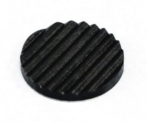波ゴム テープ付き 3×28ミリ 黒