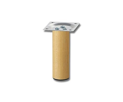 スマートレグ木製丸脚32.8×100mmシルバー