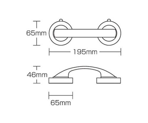 吸盤ドアハンドル 65×46×195