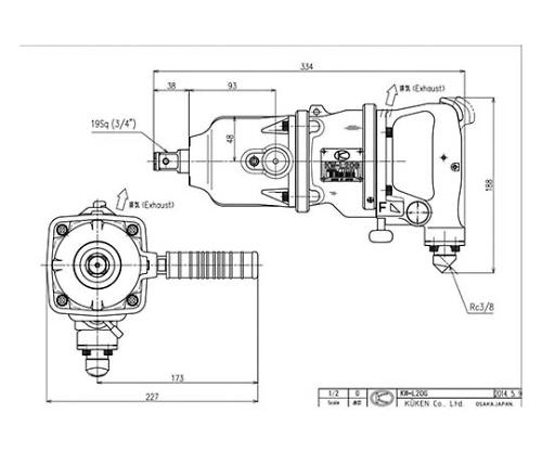 インパクトレンチ 本体 KW-L20G