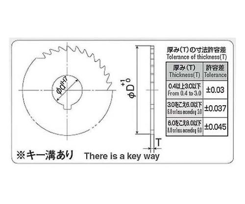 メタルソー φ75×7.0t 軸穴径φ25.4 MST075X070