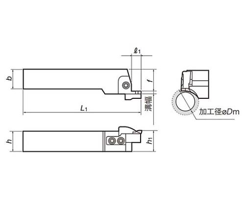 CFGSL2525-6SC TACバイト CFGSL2525-6SC