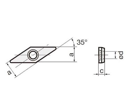 ASV322 D30 敷金 TACバイト(ターニングA A形)工具用