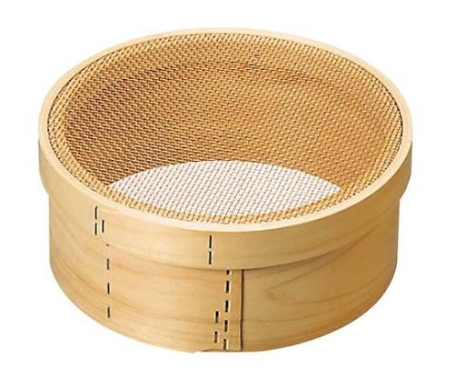 木枠 銅張 パン粉フルイ 尺(30cm)6.5メッシュ 3075300
