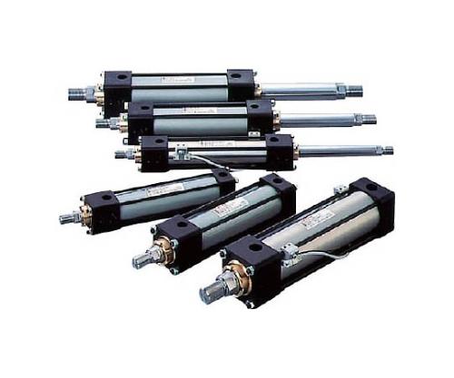 10MPa用複動形油圧シリンダ スイッチセット ウレタンゴムパッキン 軸直角方向フート形